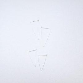 boucles d'oreilles argent unfold