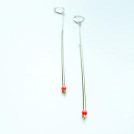 Boucles d'oreilles JUN corail