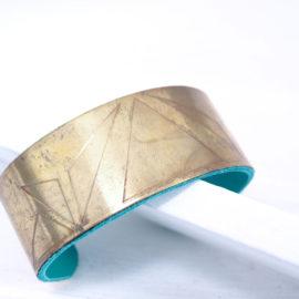 bracelet manchette géométrique unfold