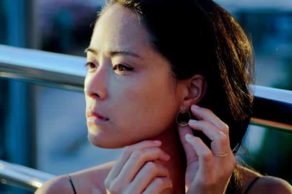 boucles d'oreilles texturées unfold