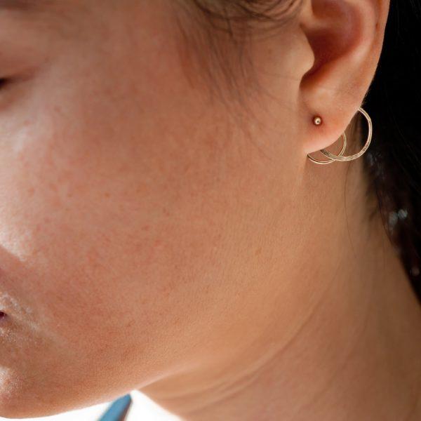 boucles d'oreilles plaquées or Unfold