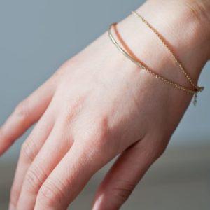 bracelet demi jonc raffiné unfold