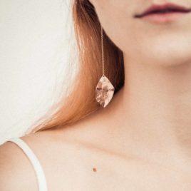 Boucles d'oreilles feuille martelées