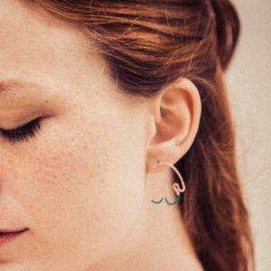 boucles d'oreilles fil