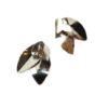 Boucles d'oreilles argentées grandes feuilles earjacket