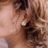 bijoux minimalistes Boucles d'oreilles rondes graphiques