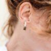 bijoux minimalistes Petites boucles d'oreilles graphiques Eudia