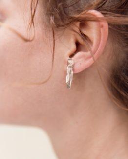 Petites boucles d'oreilles graphiques Eudia