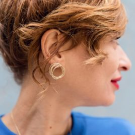 Boucles d'oreilles tourbillon