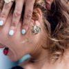 bijoux minimalistes Boucle d'oreilles mille feuille