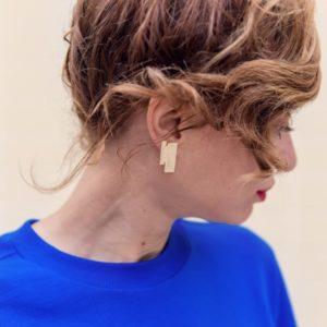 bijoux minimalistes boucles d'oreilles graphiques