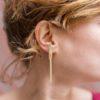 bijoux minimalistes boucles d'oreilles barres