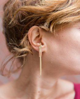 bijoux minimalistes boucles d'oreilles barres bijoux minimalistes bijou unique