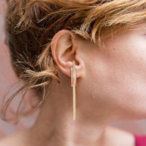 bijoux minimalistes Grandes boucles d'oreilles