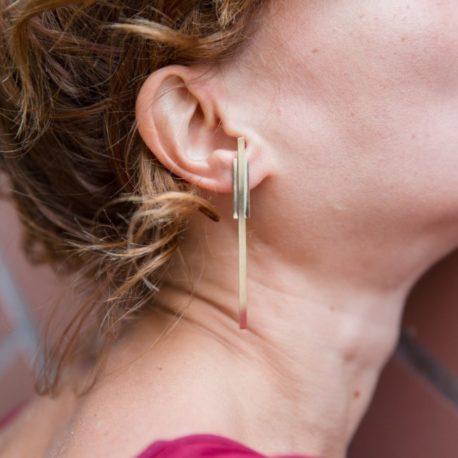 Grandes boucles d'oreilles barres