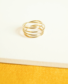 Bague spirale point bis