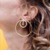 Grands cercles d'oreilles maxi boucles