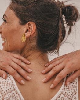 boucles d'oreilles plissées plit