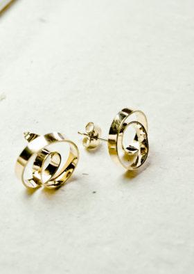 Boucle d'oreilles ruban ribbon bijoux uniques