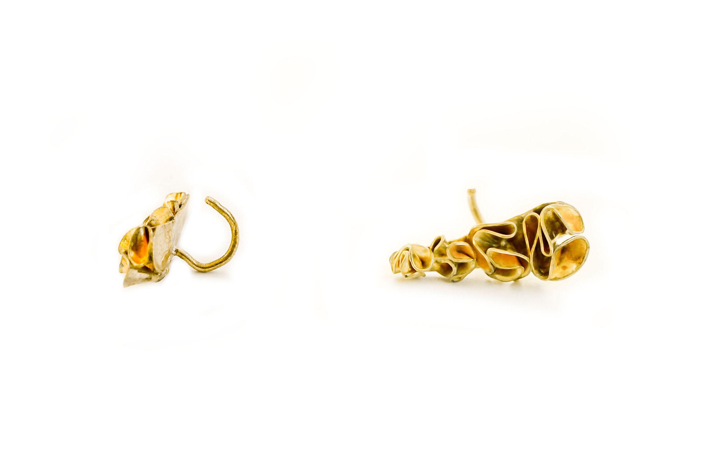 bijou d'oreille earcuff corolles bijou unique bijou délicat