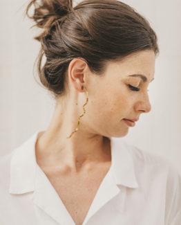 Maxi boucles d'oreilles abstraites