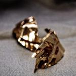 boucles d'oreilles métal froissé