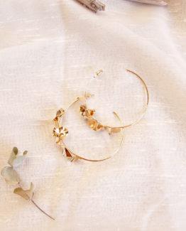 boucles d'oreille mariage maxi creoles mariage unique bijoux mariage delicat