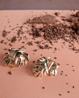 Boucles d'oreilles feuilles de pivoine